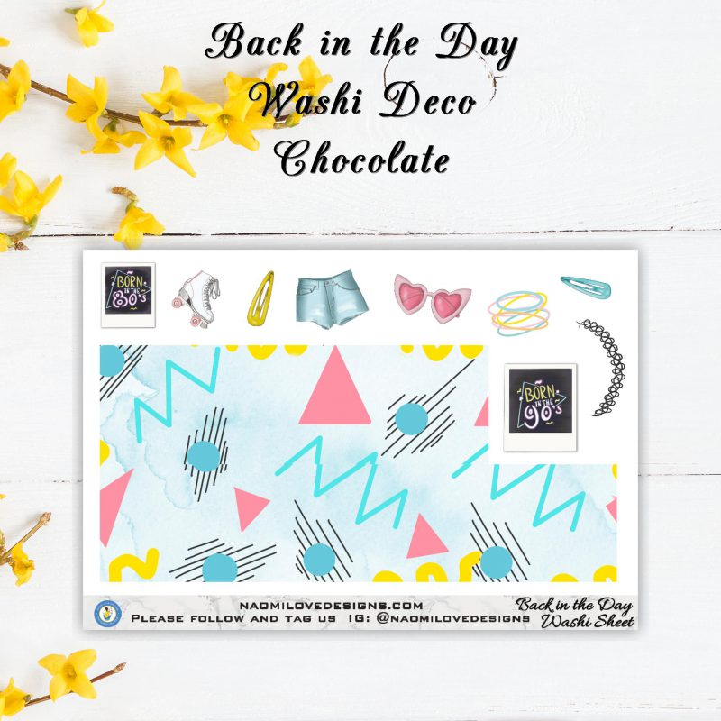 Back in the Day washi deco chocolate