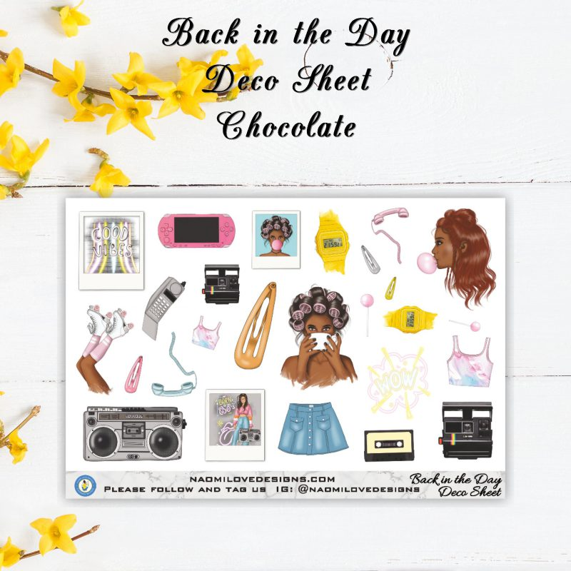 Back in the Day Deco chocolate