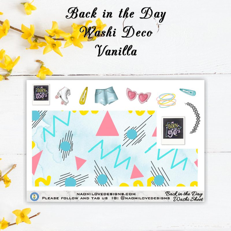 Back in the Day washi deco vanilla